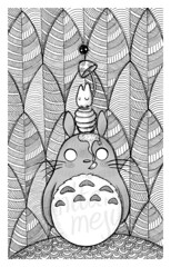 honey (Anita Mejia) Tags: illustration traditionalart fanart honey totoro ilustracion inks chocolatita hayaomiyasaki anitamejía