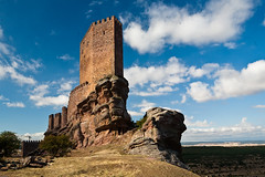 Castillo de Zafra (trommer photography) Tags: travel tower castle tourism rock stone architecture landscape spain europe landmark medieval castillalamancha castillodezafra