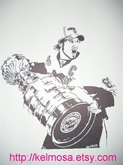 crosby (Large) (Kelmosa) Tags: blackandwhite art hockey silhouette nhl penguins pittsburgh drawing center skate marker celebrities sharpie 2009 champions stanleycup crosby sidneycrosby pittsburghpenguins sidthekid