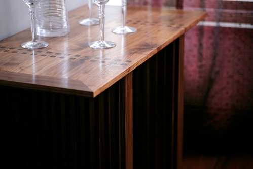 Tenoned walnut console table 2