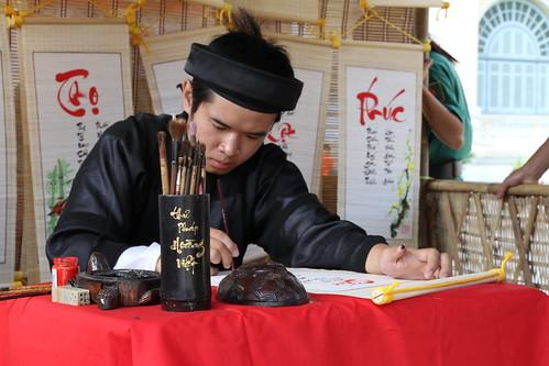 Vietnamese Calligrapher, Tet 2010
