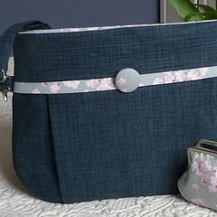 lcb76amisacdetails2 (Handcraft Love Sandi) Tags: pink blue floral bag japanese grey navy fabric strap zipper clutch pocket shoulder ajustable