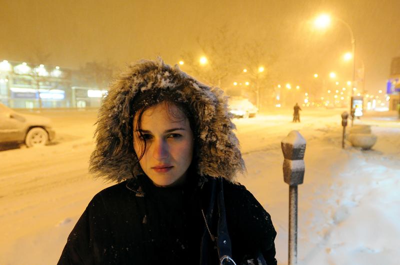Ilisa in the snow