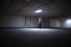 060 (lisbokt) Tags: light portrait woman selfportrait wardroberemix lady female self project dark office outfit alone autoportrait space empty spotlight minimal clothes converse 365 minimalism plaid simple chucks deserted dailyphoto sparse allstars officespace project365 headtotoe