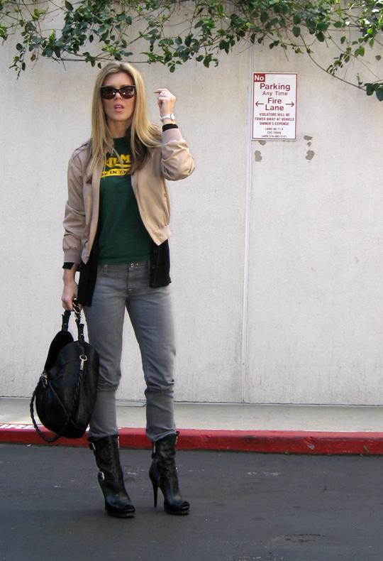 Triumph t-shirt gray jeans stiletto biker boots-2cropped