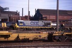 Clark Ave Yard (Fan-T) Tags: railroad ohio urban yard industrial diesel cleveland clark bo rustbelt csx steelmill