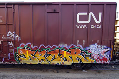 C N (TRUE 2 DEATH) Tags: california railroad streetart art train graffiti tag graf trains railcar spraypaint boxcar decor railways railfan freight ihp freighttrain rollingstock bhg benching freighttraingraffiti
