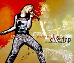 oVERLAP (hahaxyouaredead) Tags: orange lines hair williams fotolog where texturas hayley overlap