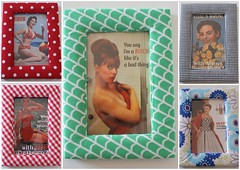 stoffen fotokadertjes / Fabric covered photoframes