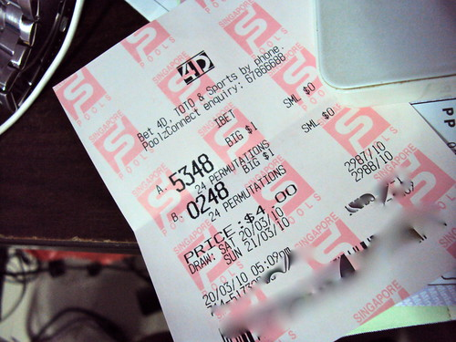 There really is no need for a title....: Winning Singapore 4D lottery