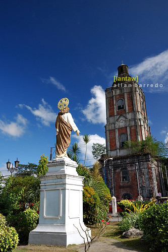Christ statue and belfry