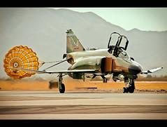 Phantom Menace (~Clubber~) Tags: usa airplane flying fighter taxi aircraft aviation flight jet vietnam airforce phantom usaf f4 warplane interceptor supersonic dragchute