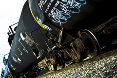 Day 39 (Col. Mstard) Tags: train graffiti traintracks 365 oilcar