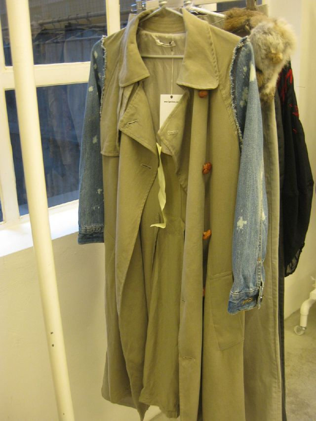 Yeah Right! refashioned denim trench coat