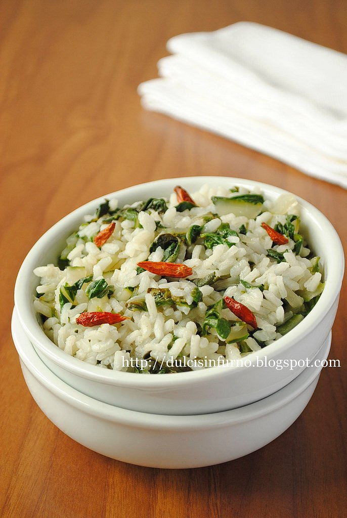 Riso alle Bietole-Rice with Chard