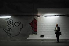 Un inconnu vous offre des fleurs (philoufr) Tags: paris subway mtro quay quai ratp odon ligne4 explored canonpowershots90