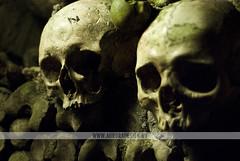 You and Me - Catacombs, Paris (Naomi Rahim (thanks for 5 million visits)) Tags: travel two paris france skulls lowlight gothic creepy arr bones macabre 14th catacombs montparnasse alternative blueribbonwinner offthebeatenpath nikond60 af5018d lpspooky