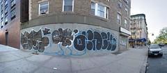 Earsnot and Adek (mike ion) Tags: nyc newyorkcity panorama ny newyork graffiti manhattan ear throw fill photostitch flickrexplore earsnotirak adekbtmtko3ak