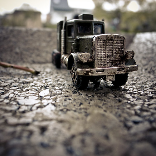 Micro Truck Covered in Dirt