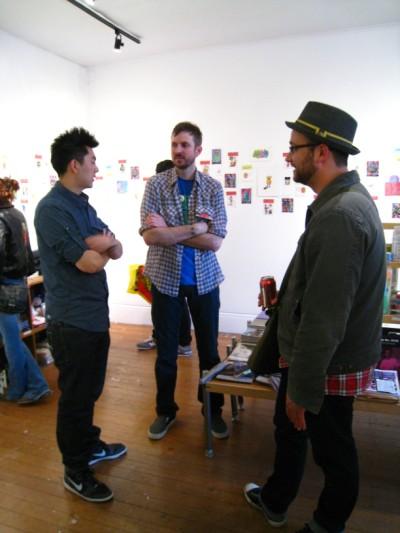 Le Merde Matt Furie and Johnny Ryan at GR SF