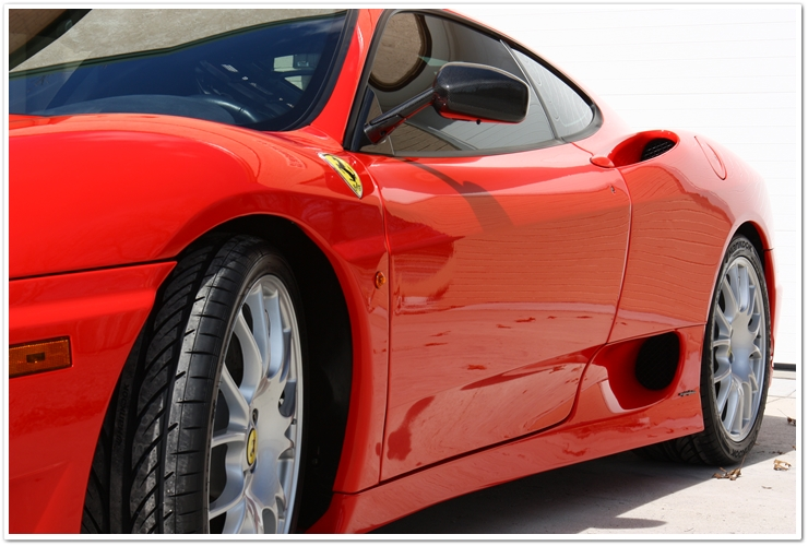Ferrari Challenge Stradale side view