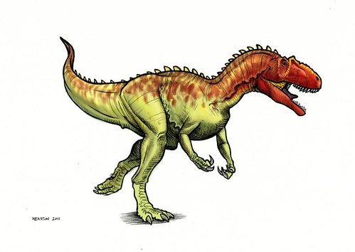 allosaurus running color
