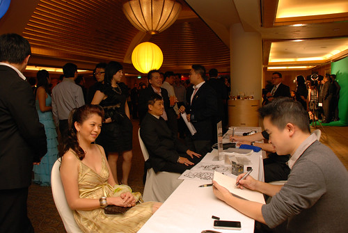 caricature live sketching for Great Eastern Achievers Nite 2011 - 8a