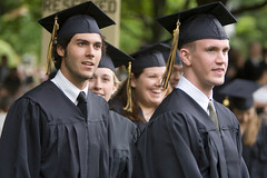 Students at Wake Forest's 2006 Commencement