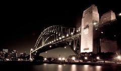 Old Bridge (simondownunder) Tags: panorama night tripod sydney australia australien exchange downunder uts longtime hugin yearabroad