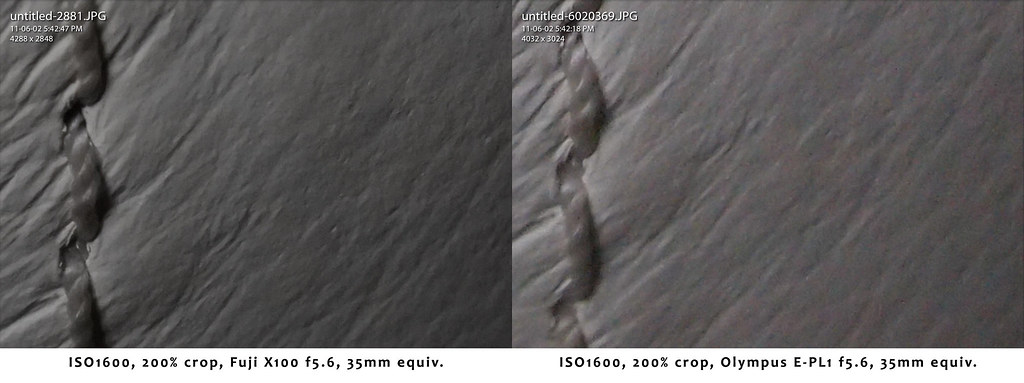 ISO1600 Comparison - Grain vs. Noise