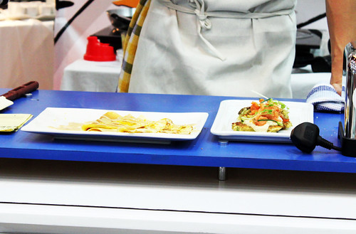 High Protein Crepes & Zucchini Pancakes with Ricotta Sauce - GNC Eat Well, Live Well Shangri-la Mall Launch