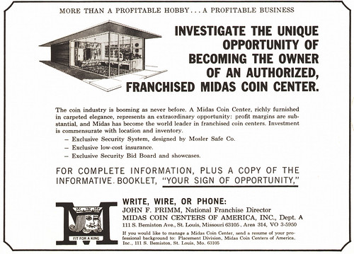 Midas Coin Center ad