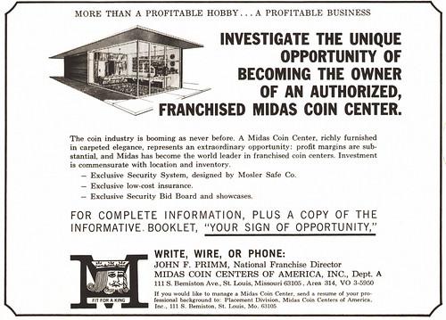 Midas Coin Center ad