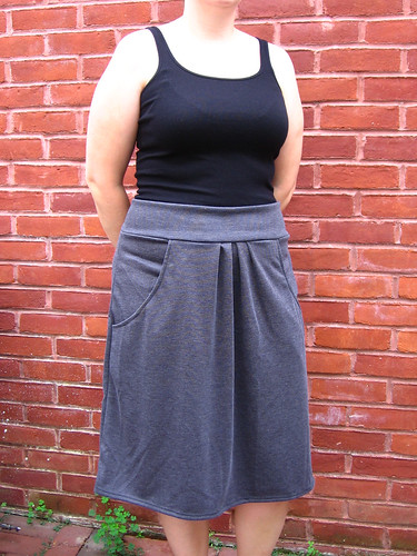 Pleated Pocket Skirt - large view