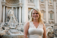 Cecilia and the Fountain (_Codename_) Tags: italy rome fountain honeymoon trevifountain cecilia fountainoftrevi