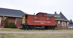 South Lyon, Michigan (5 of 8) (Bob McGilvray Jr.) Tags: southlyon michigan caboose wood wooden red cupola co chesapeakeohio railroad train tracks display public museum depot