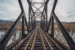 Over the river and through the mountains... (Michael Chronister) Tags: virginia railroad traintracks blueridgemountains explore exploration