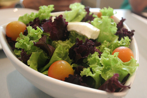 Salad Greens and White Cheese with Vinaigrette at Tapella