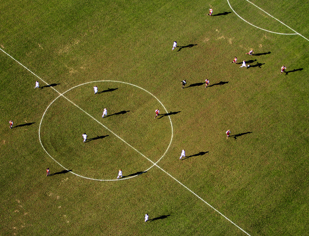 Soccer aerial color