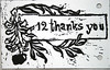 12thanksyou (jana.vn) Tags: white black apple leaves ink design belgium you handmade jewelry thank card printing 12 ghent woodcut grpahic