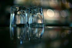 glasses (didnotspillcoffee) Tags: reflection bar glasses canon5d reflexion vasos didnotspillcoffee 55mmnikkoraisf12