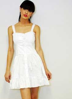 foto de vestido branco