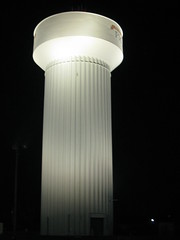 Water tower in Piqua Ohio (kk7k) Tags: white black color night digital canon geotagged photo interestingness photos powershot nighttime selfpotrait digitalphotography piqua g9 interestiness ditial piquaohio g9powershot