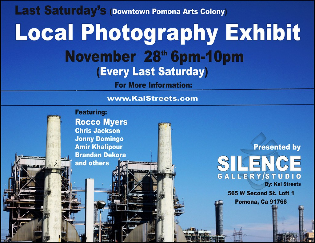 Saturday November 28th 6pm-10pm -Last Saturday Art Walk