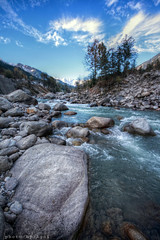 The River Beas (AgniMax) Tags: travel november winter tourism nature water river town rocks whitewater tourist valley majestic runningwater vacations manali hdr beas traveldestinations placeofinterest riverbeas qtpfsgui manalitown