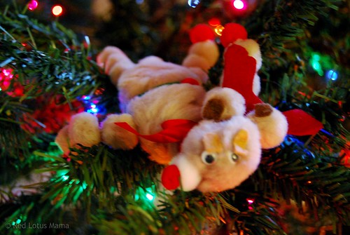 pom pom reindeer (made 1981)