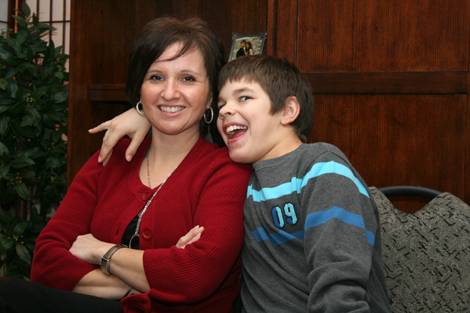 sister and son