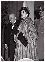 H.M. Shah Mohamed Reza Pahlavi & Empress Soraya Visiting London In 1955 (B) - Courtesy; aryamehr11 (Tulipe Noire) Tags: england london 1955 official king iran persia visit soraya 1950s wife empress reza mohamed shah pahlavi cherchil