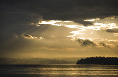 Over The Sound (Scott_Nelson) Tags: seattle sunset sun water night clouds cloudy pugetsound vashonisland regionwide