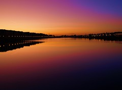 Purple Preston Marina (Tony Worrall) Tags: uk light sunset england sun color reflection nature wet water beautiful lines sunshine weather night buildings outside gold golden evening photo nw glow colours view natural northwest image dusk horizon stock scenic shapes lancashire use gb preston lit outline h20 shimmer lancs portway riversway prestondocks prestonmarina prestonian ©2011tonyworrall